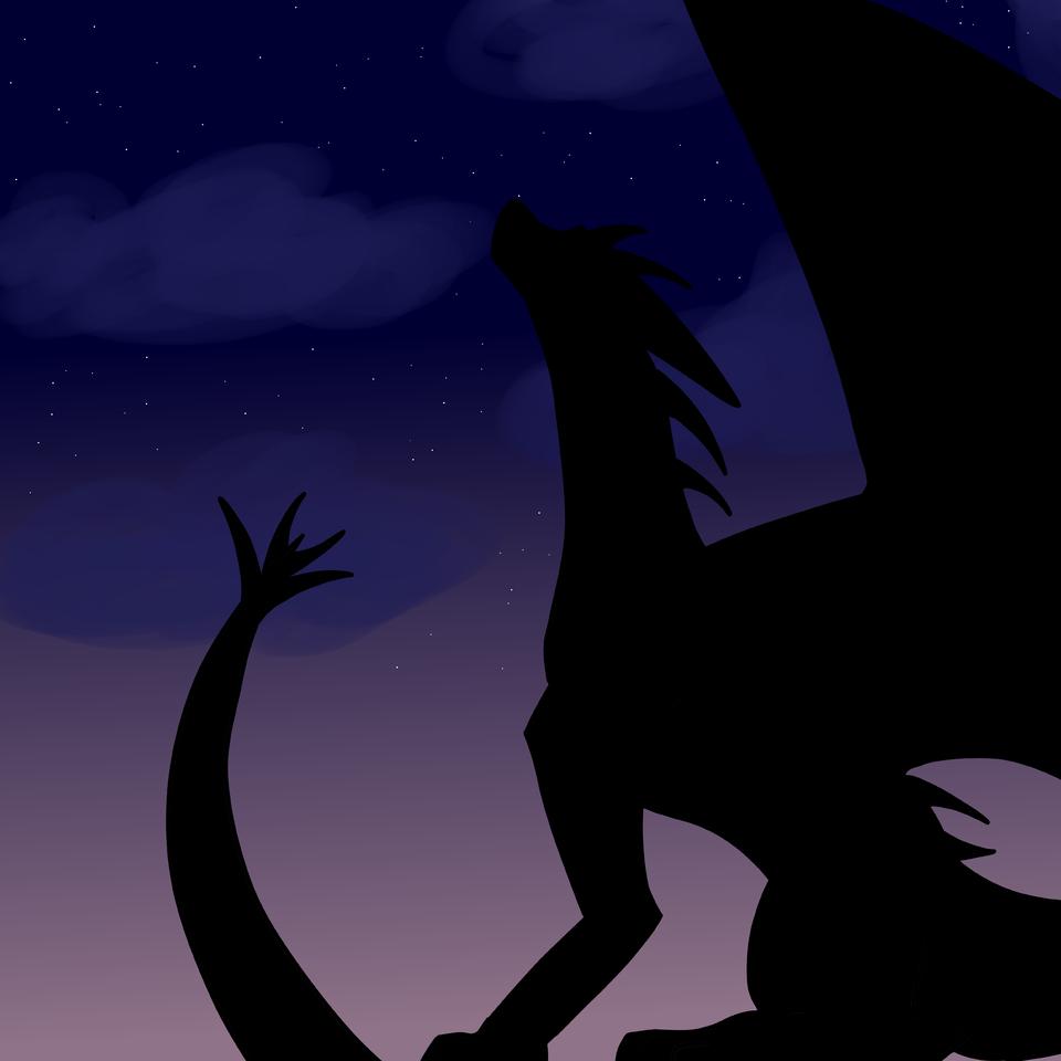 Silhouette  Illust of Warriorbeast WoF medibangpaint TuiTSutherland Dragons