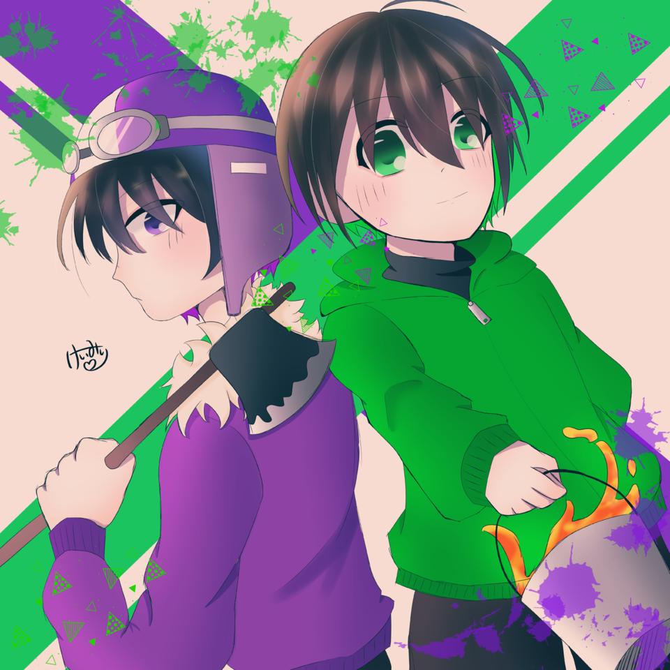 まんせう Illust of けいみり green medibangpaint ショッピ ゾム purple ツーマンセル ○○の主役は我々だ!