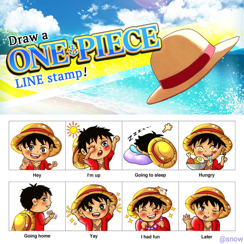 One-piece line stamp challenge Illust of Cheesywhiskers ONEPIECE illustration ONEPIECEChallenge medibangpaint