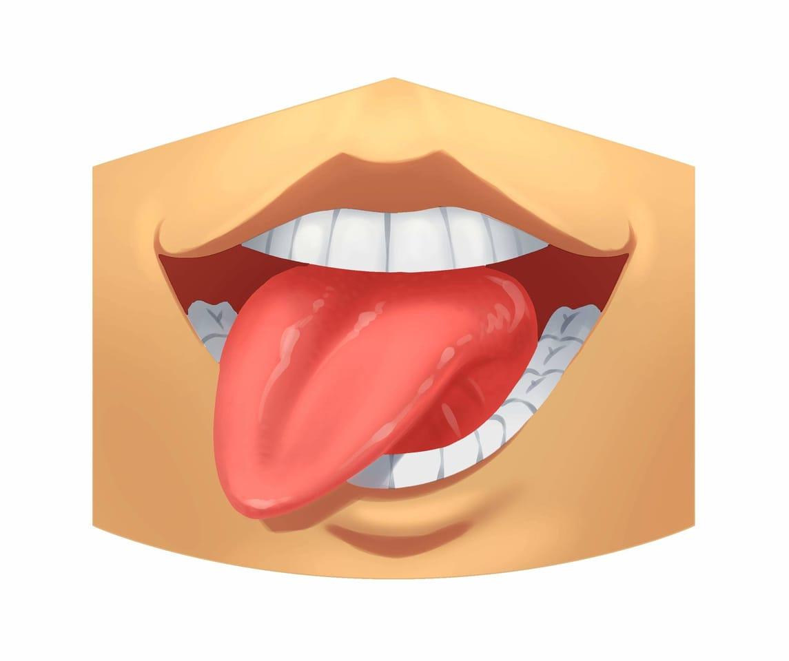 Tongue mask Illust of CristóbalCapiz MaskDesignContest