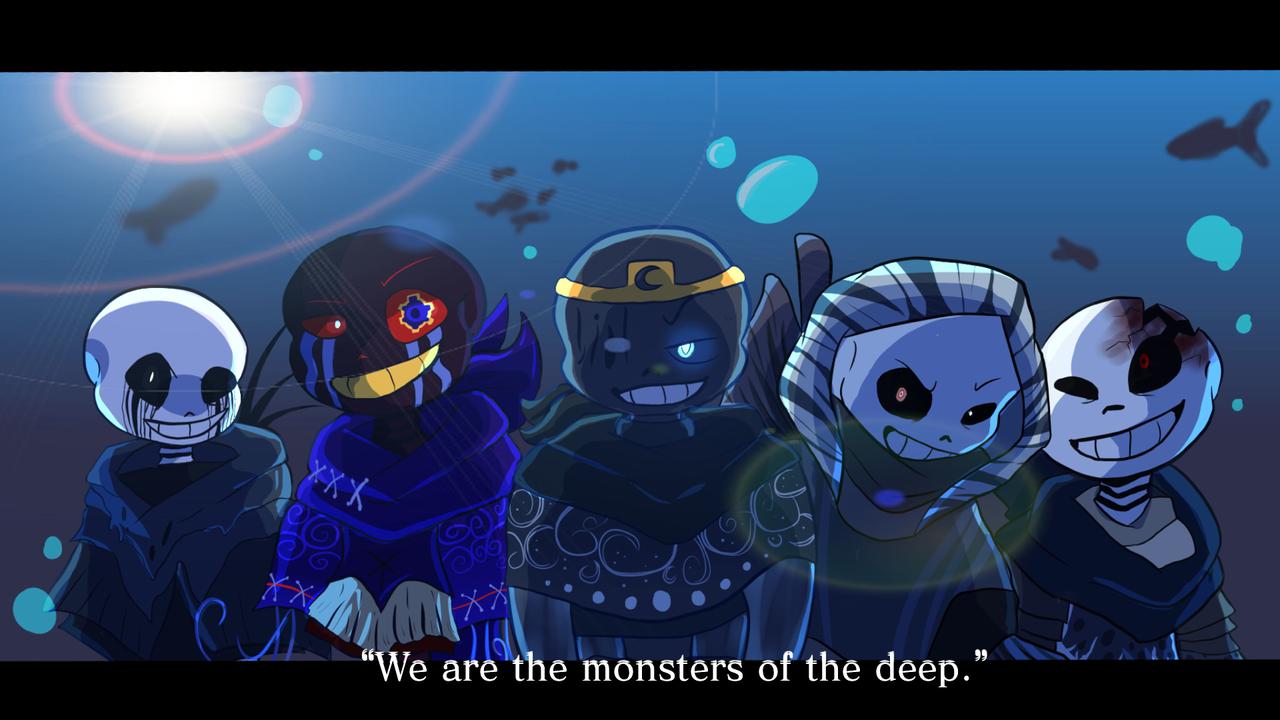 Monsters of the Deep fanart