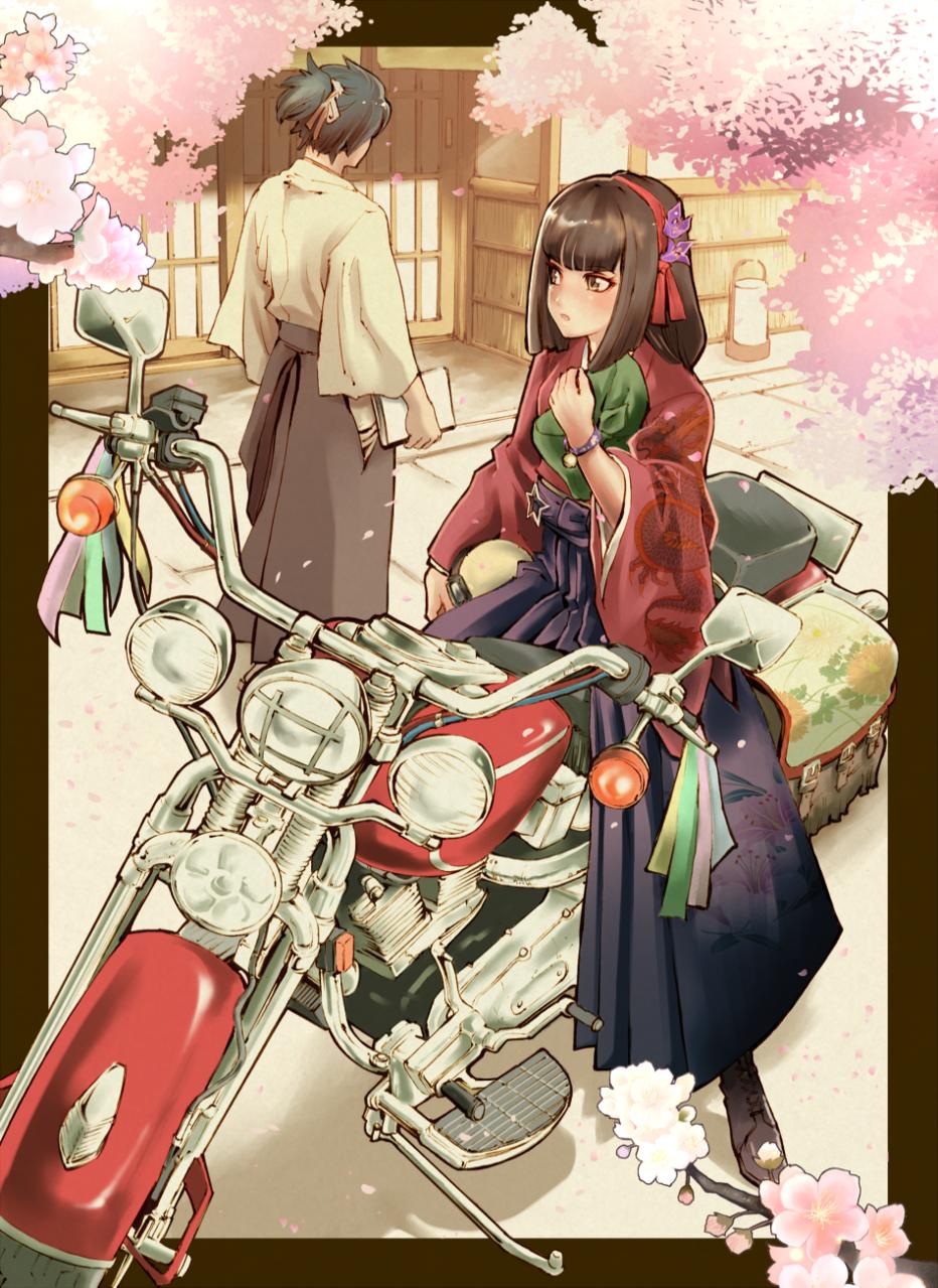 春恋 Illust of HAZUKI オリジナルキャラ girl 大正浪漫 sakura