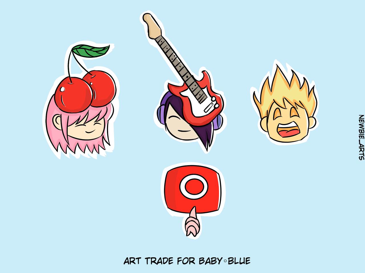 EMOJIS Illust of Newbie emoji illustration Baby◦blue cute