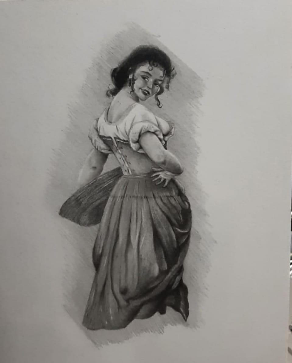 lady Illust of zozo illustration girl Lady sketch drawing StolenArt medibangpaint