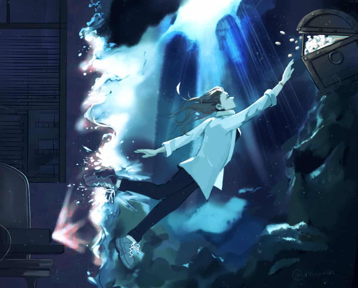 Leap into the Unknown  Illust of valcuum_ giftyouwant Vankyo