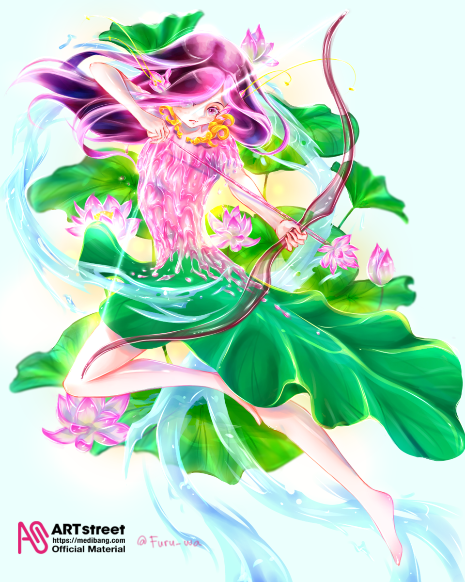petal Illust of Furuwa April2021_Flower tracedrawing3rd anime girl flower medibangpaint pink piercing digital Trace&Draw【Official】
