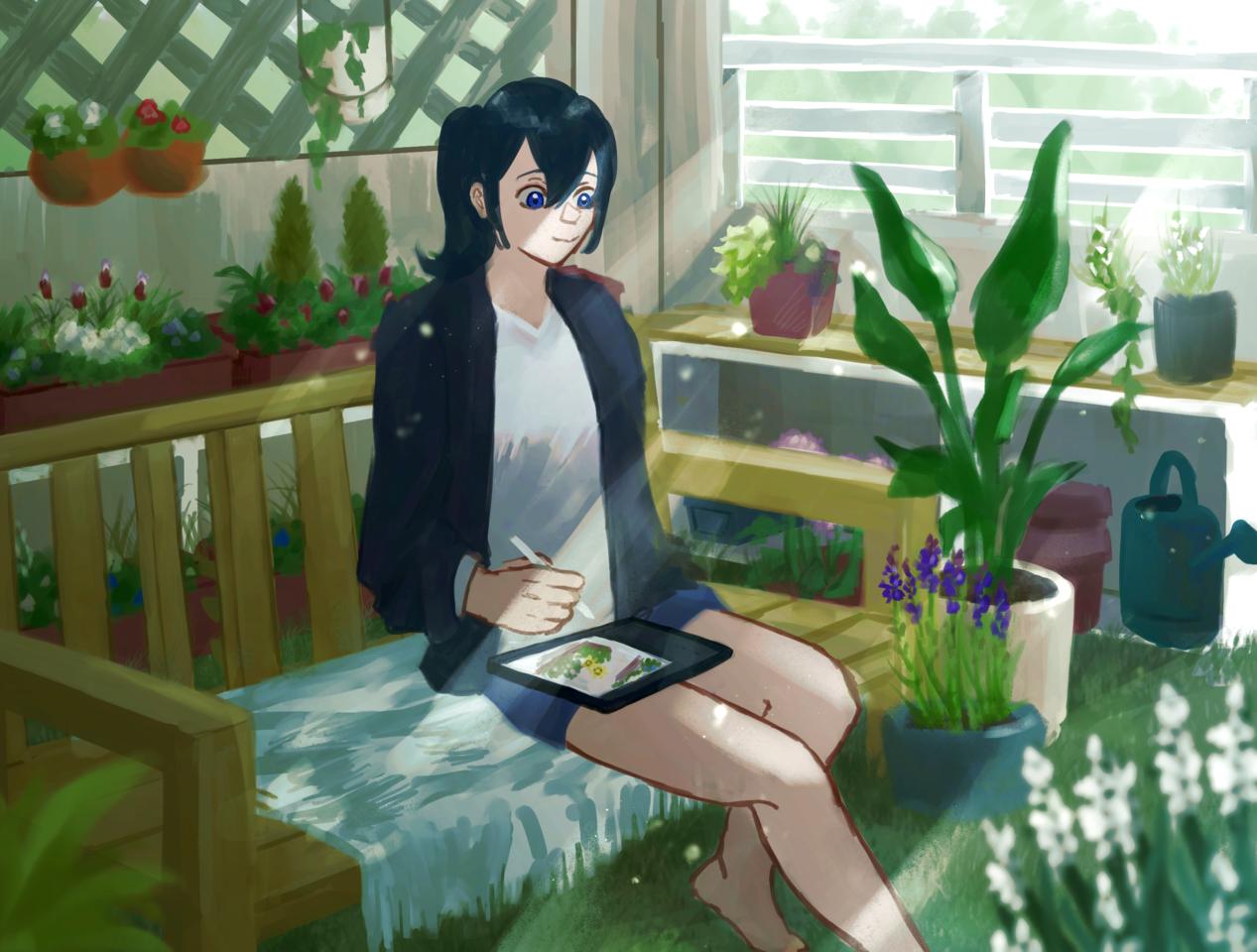好きなものを好きなだけ Illust of ㌨メンタル。 HUAWEIイラスト&マンガコンテスト HUAWEIイラスト&マンガコンテスト:イラスト部門 植物 girl illustration