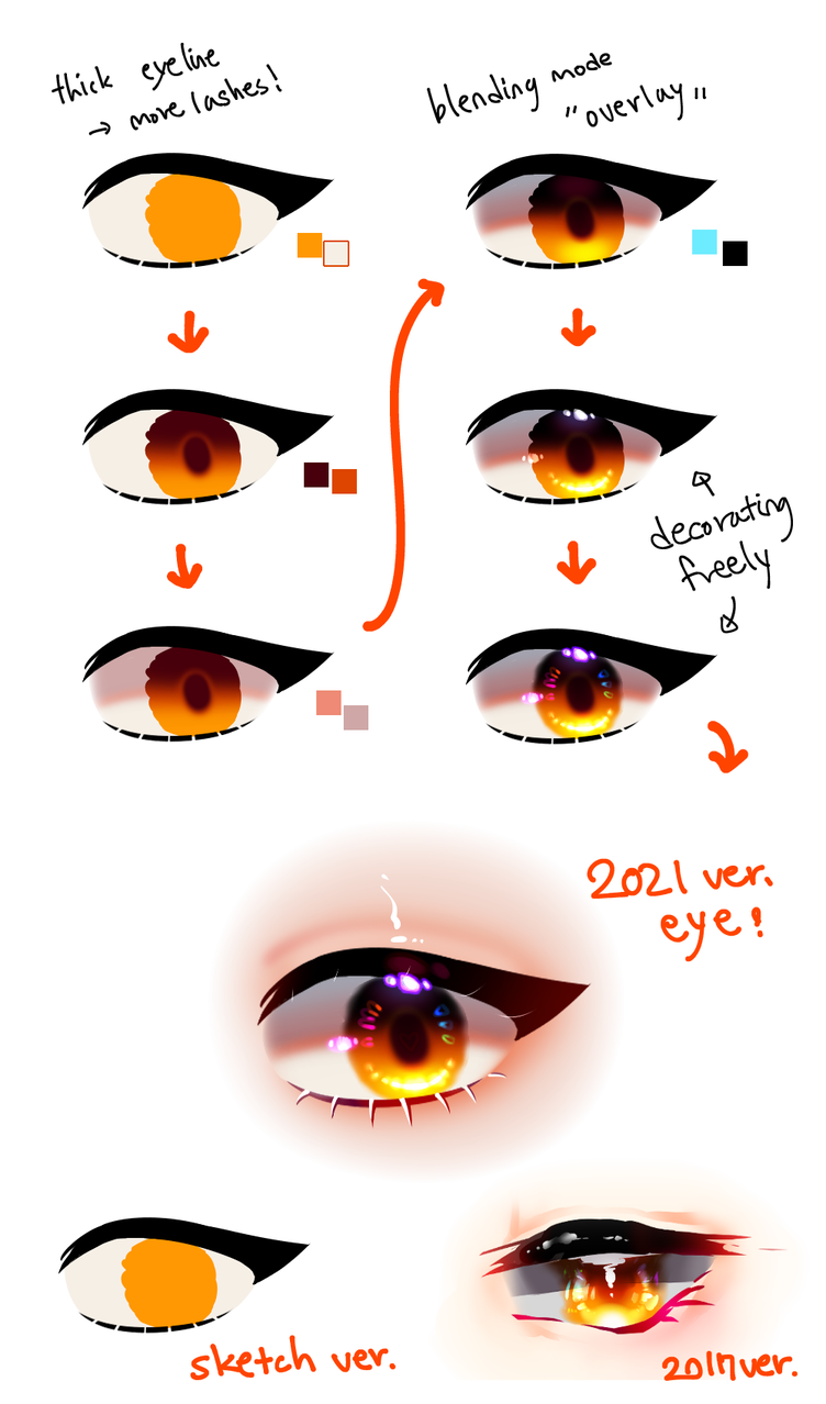 drawing eyes Illust of DELU The_Challengers tutorial snow