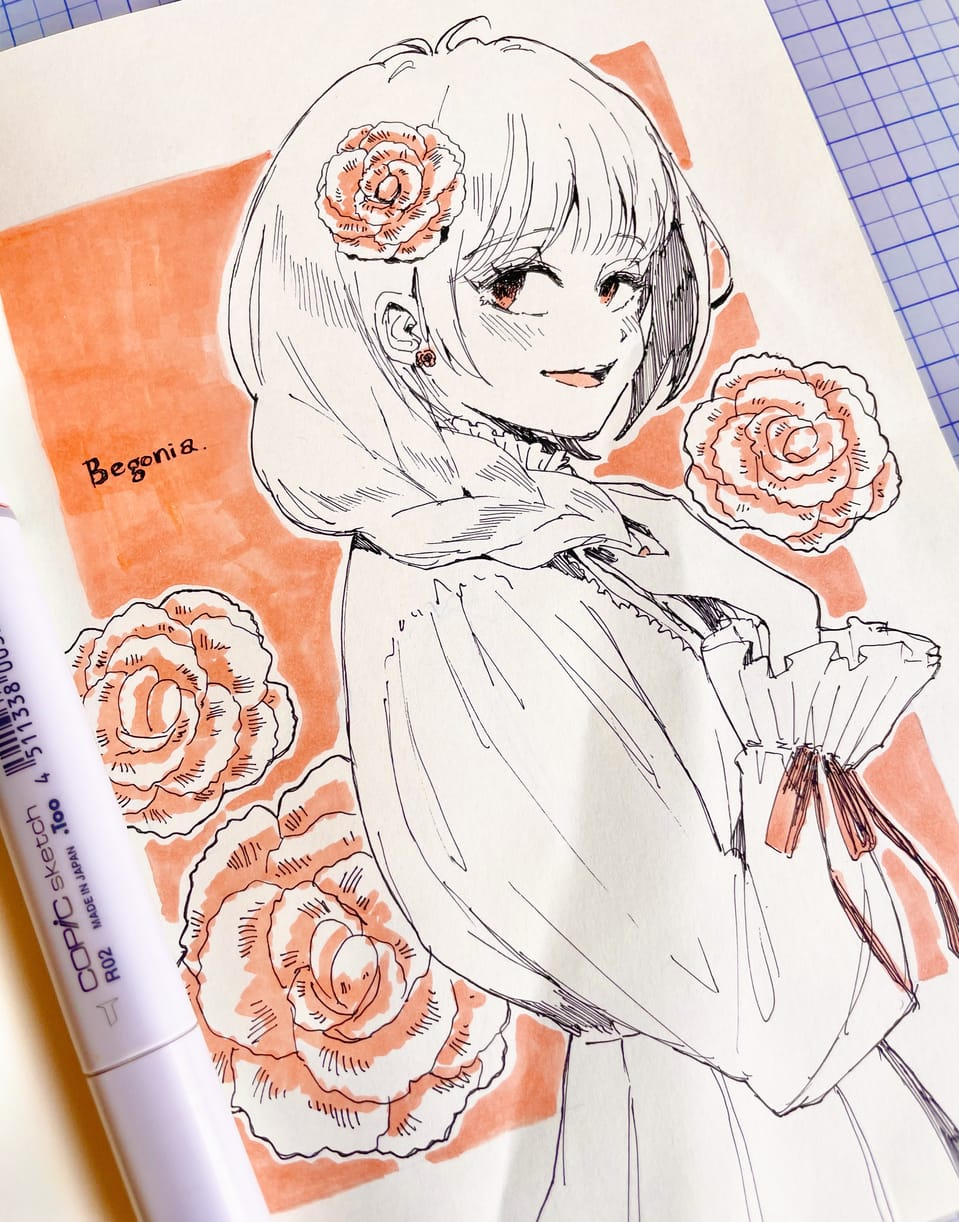 落書きまとめ② Illust of 陳田こころ アナログ painting boy illustration girl oc doodle