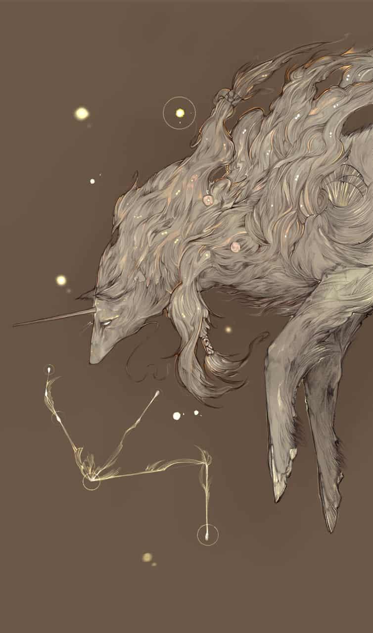 Star  Illust of Koiutre fantasy space animal original oc