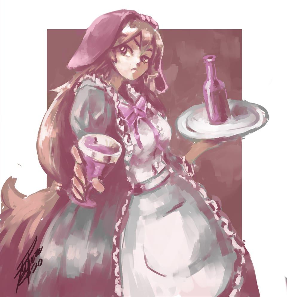 maid Illust of José Pérez fantasy January2021_Contest:OC digital girl oc