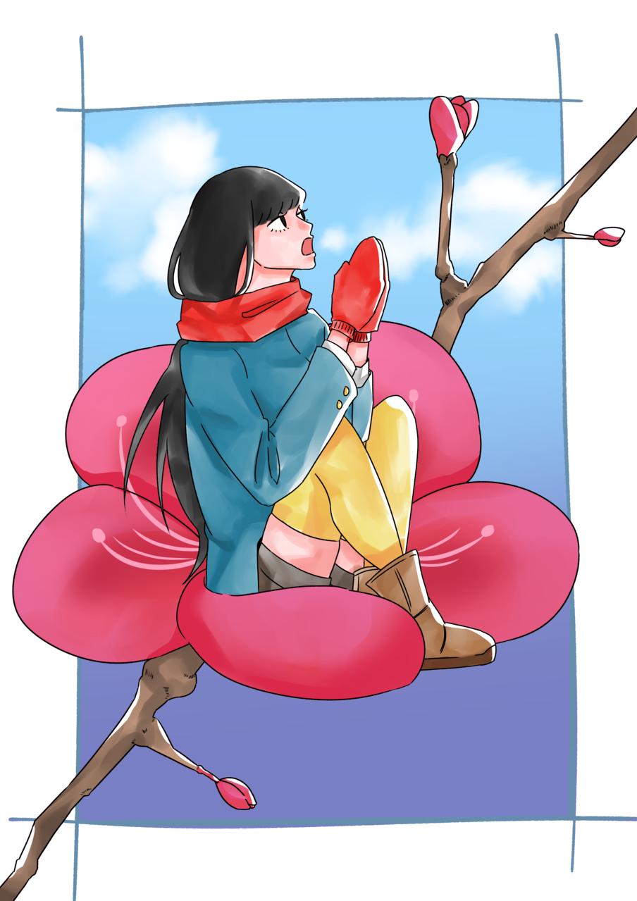 冬 Illust of ハン January2021_Contest:OC flower girl winter original