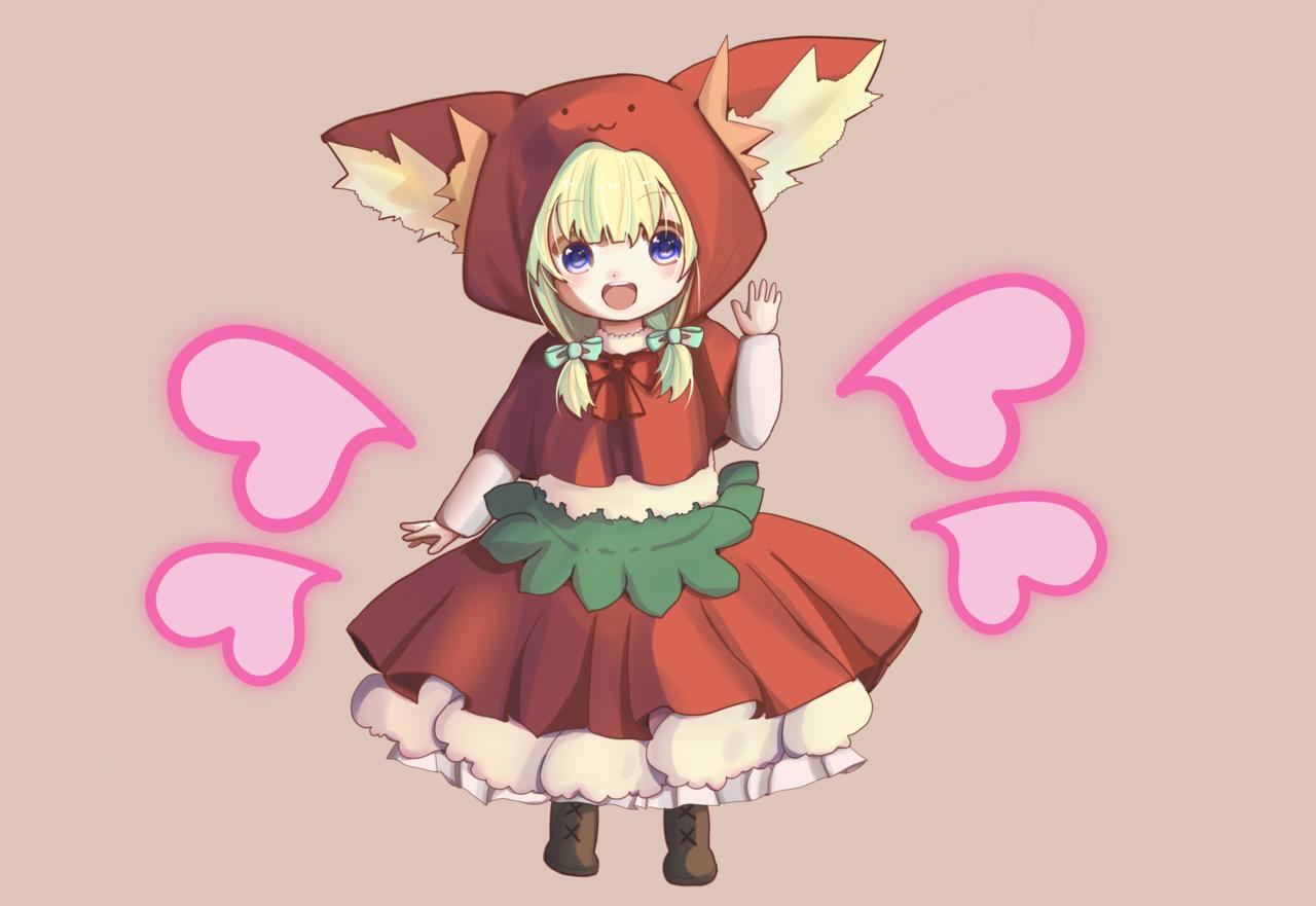 んにゃ! Illust of 阿倉功治(アクラコウジ) January2021_Contest:OC girl デフォルメ oc hoodie cat_ears cat blonde original