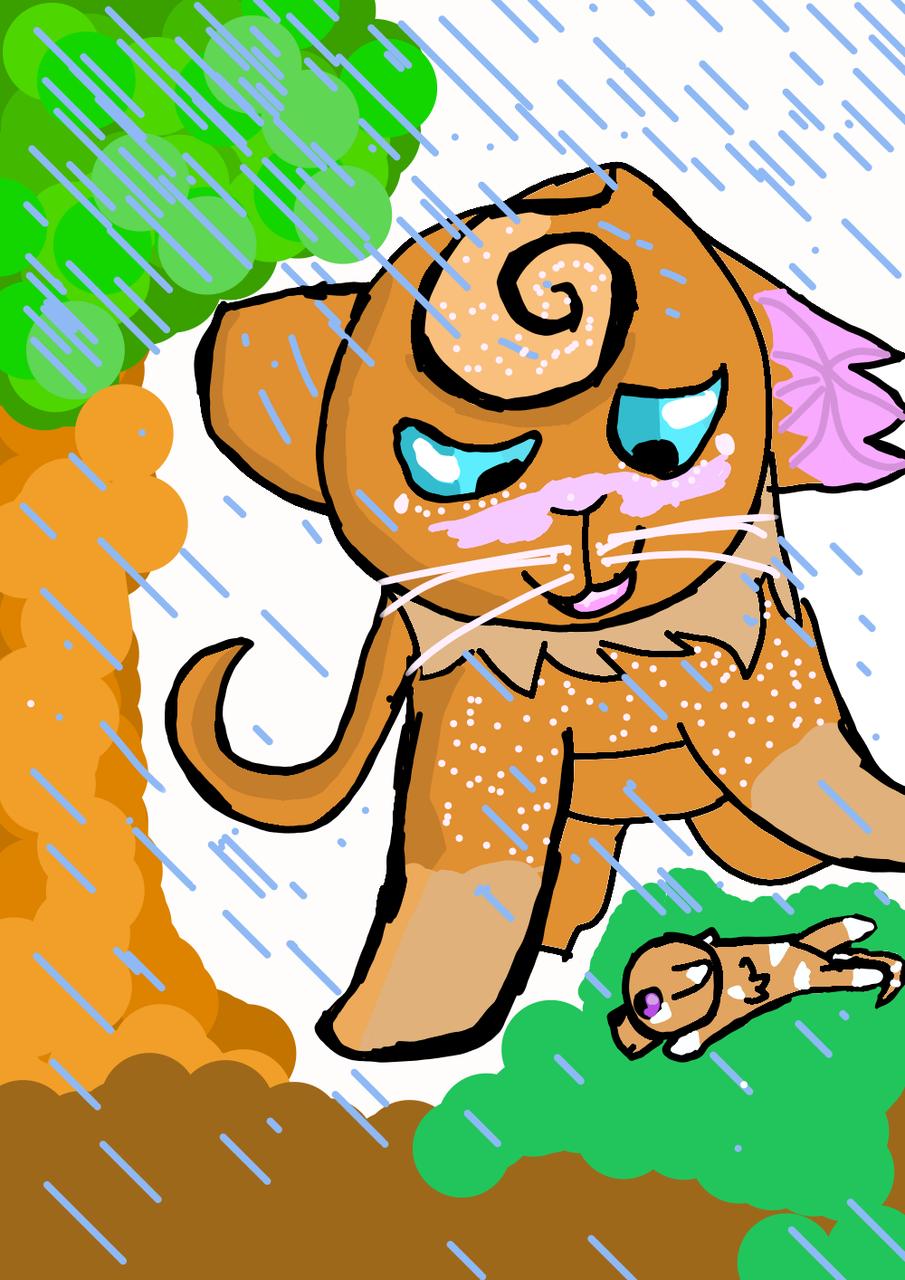Amberleaf Illust of Maple medibangpaint cat warriorcats kitten