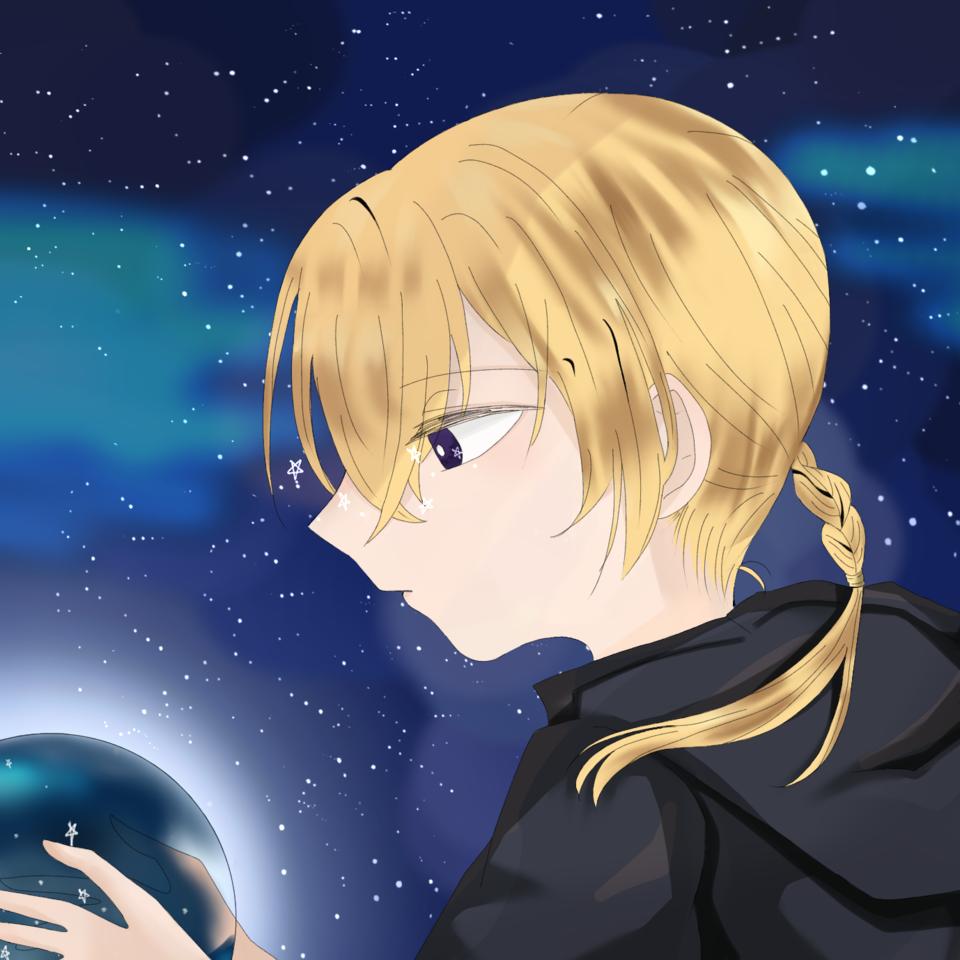 空の先の貴方へ Illust of 巌えん star night 中性的 oc sideface
