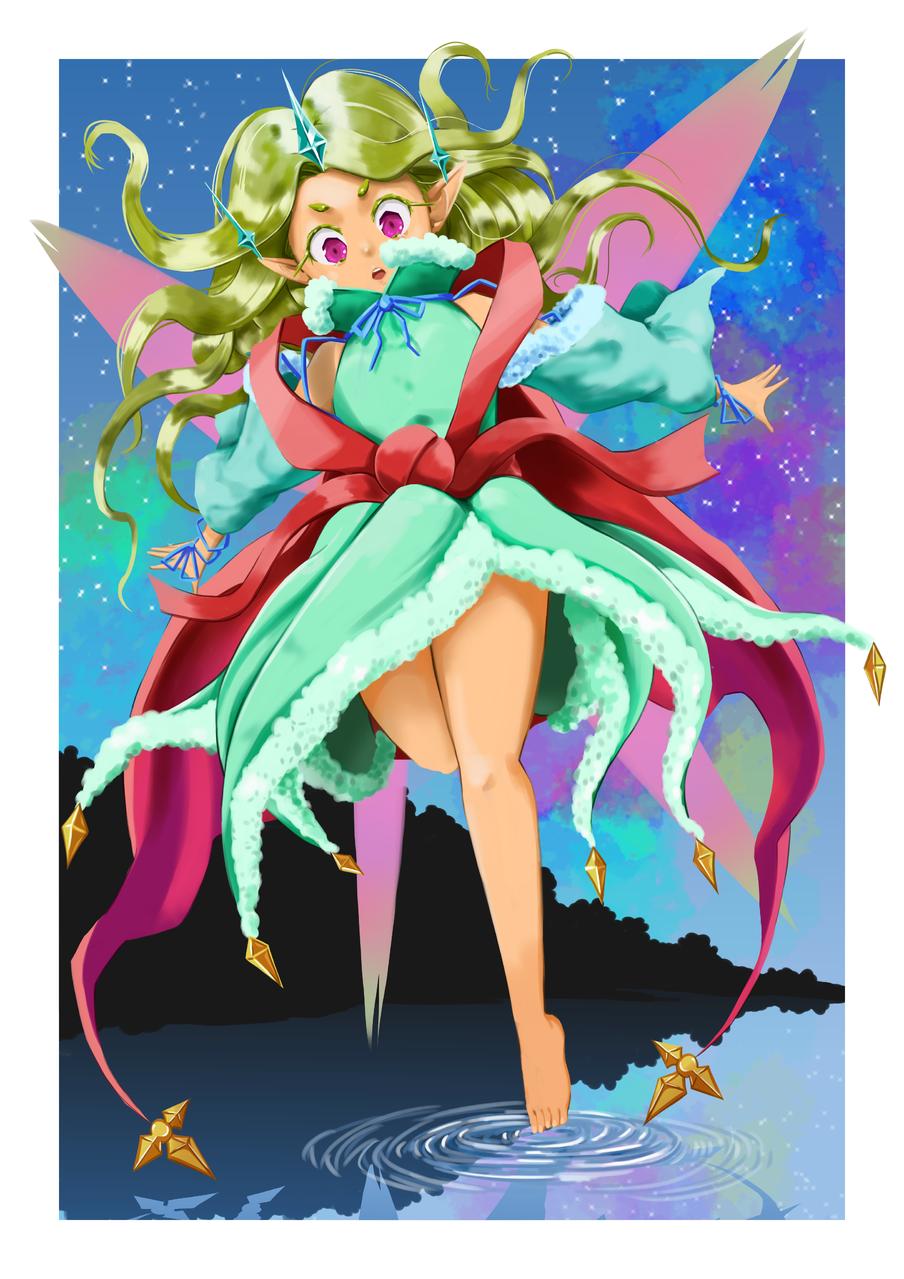 Fairy's Princess Illust of Perfectsword fantasy March2021_Creature February2021_Fantasy medibangpaint creature fairy magic princess
