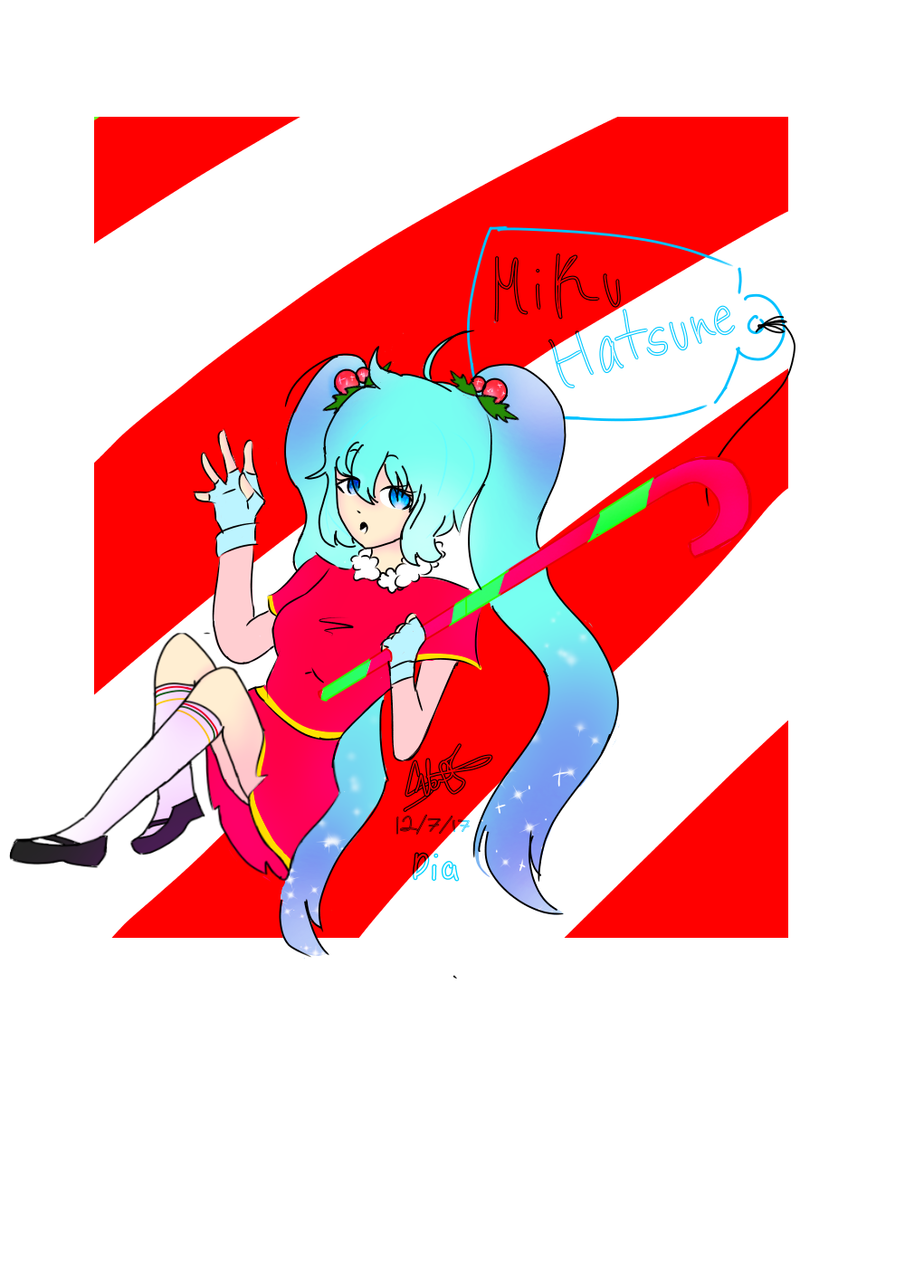 Hatsune Miku Christmas Outfit.Miku Hatsune My Christmas Outfit Quatumdia