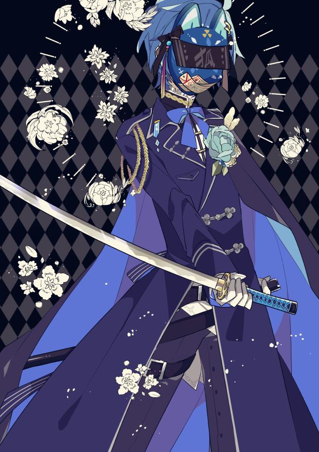 狐面 Illust of 由杞 KAITO 刀 狐面 VOCALOID