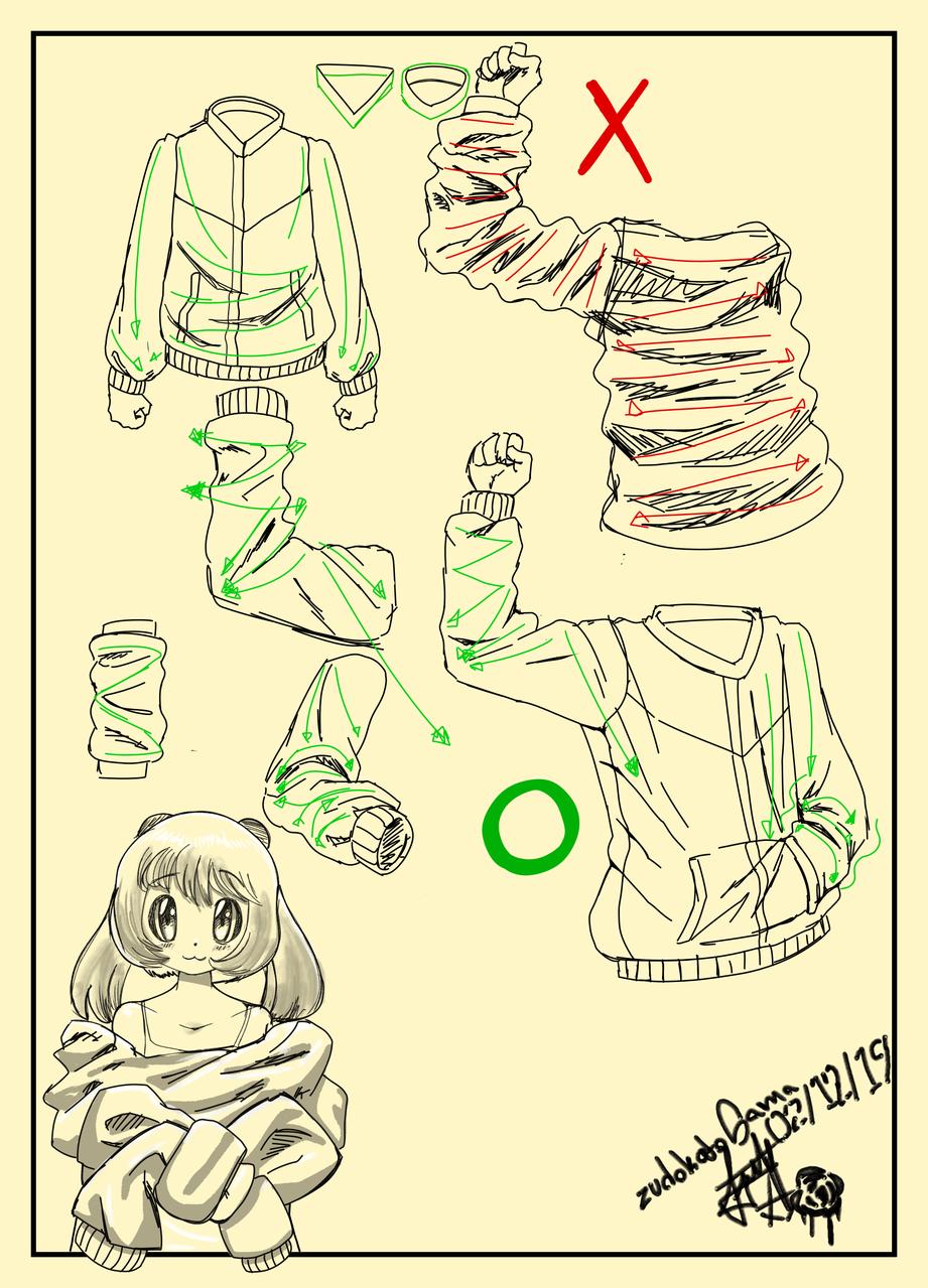 dibujar pliegues de chamarra dificultad: facil Illust of ZUDOKATO - SAMA medibangpaint manga illustration tutorial original