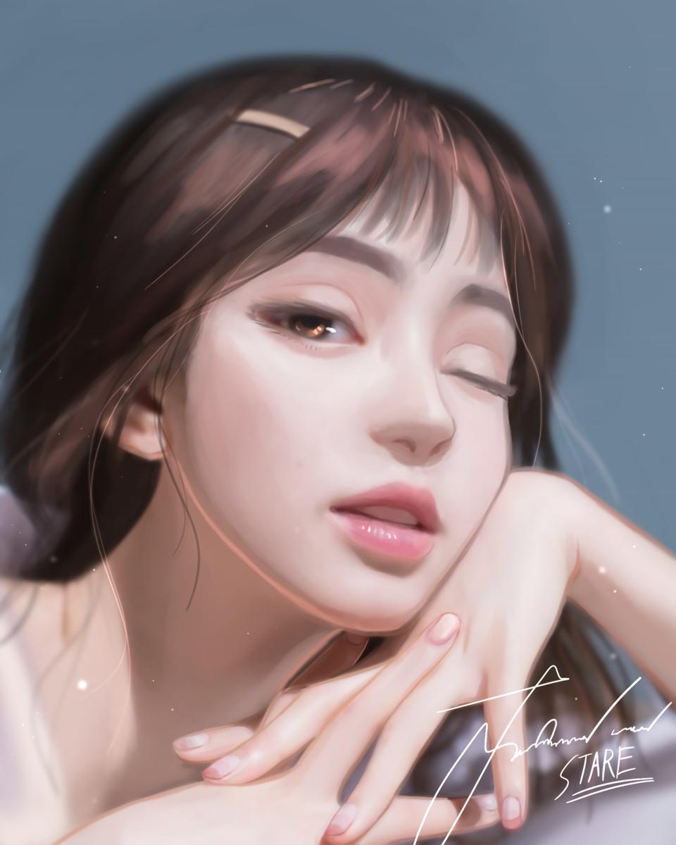 Stare of love Illust of KarmaSan illustration thisartshouldlvlup girl beautiful digital art drawing digitalillustration love anime