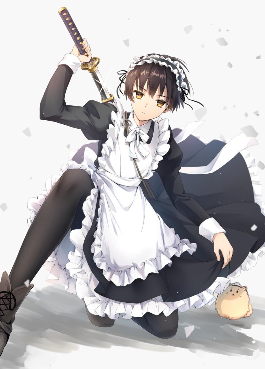 W廿_廿)<メイドです(低音) Illust of イルカ APH maid 本田菊 CLIPSTUDIOPAINT