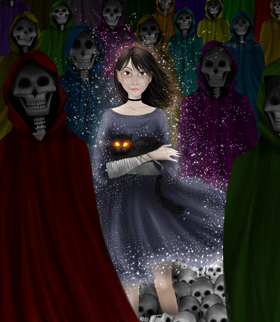 Death Patrol Illust of VioletHoshimi horror August2020_Contest:Horror medibangpaint illustration Artwork digital game Fingerpaint Creepypasta black