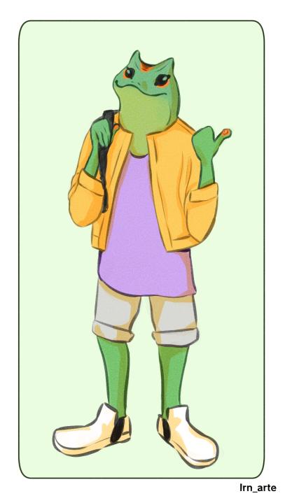 Frog Illust of lrnart97 medibangpaint color drawing Frog sapo