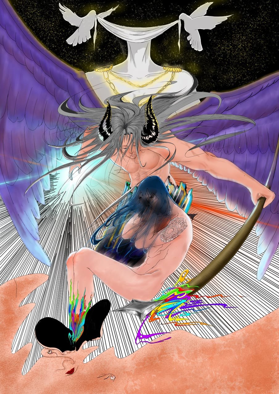 1 years ago. Illust of z朝歌 February2021_Fantasy artist illustration 自我 Chinese original 梦境
