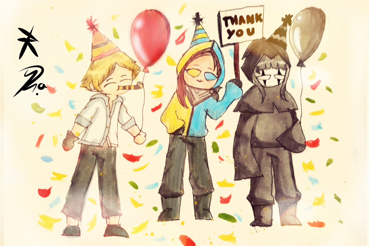 Thank you for 105 followers! 🖤 Illust of Ph@nt0m medibangpaint Me
