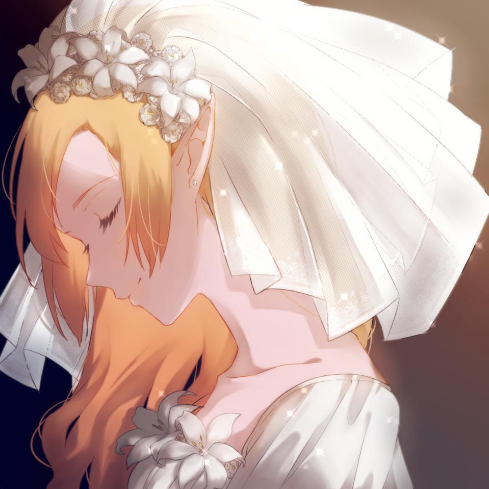 エルフの花嫁 Illust of 9percent medibangpaint ウェディング flower original エルフ耳
