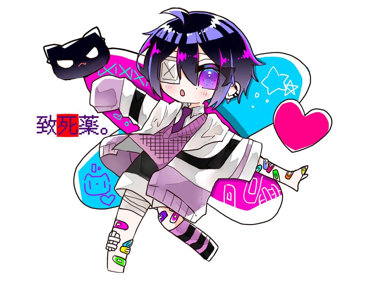 致死薬なの Illust of めだまやき#中2病 digital angel Teる。 練習中 kawaii chibi 致死薬。くん 代理 頑張った
