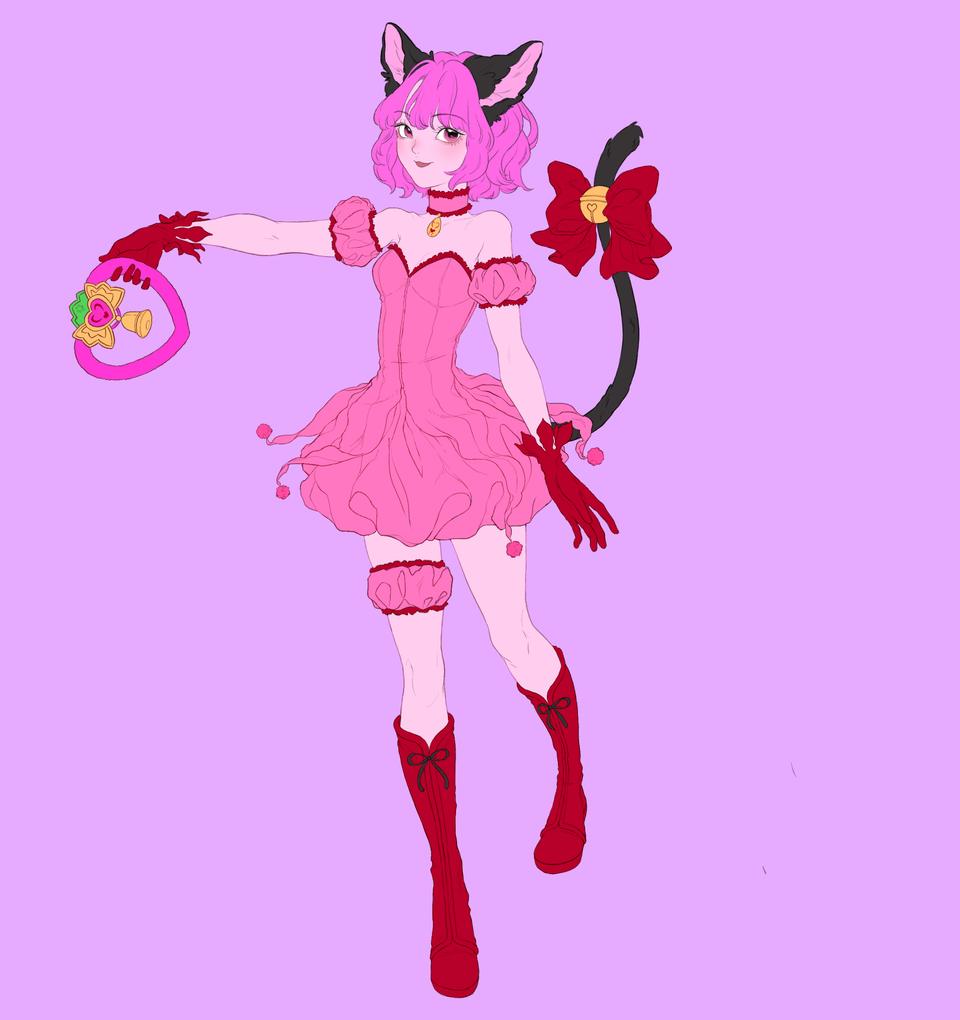 Mew Ichigo Profile Illust of Gratjia pinkhair CLIPSTUDIOPAINT tokyomewmew girl magicalgirl cat_ears gratjia fanart Ichigo profile study