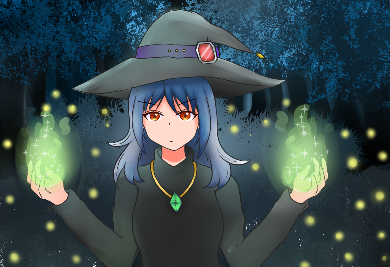 witch girl Illust of Sugawara998 fantasy February2021_Fantasy Witches witch