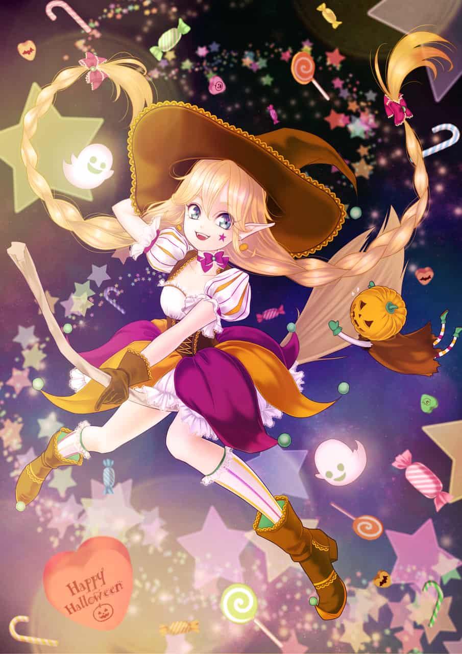 Happy Halloween Illust of 黎 Re:i Oct.2019Contest witch Halloween