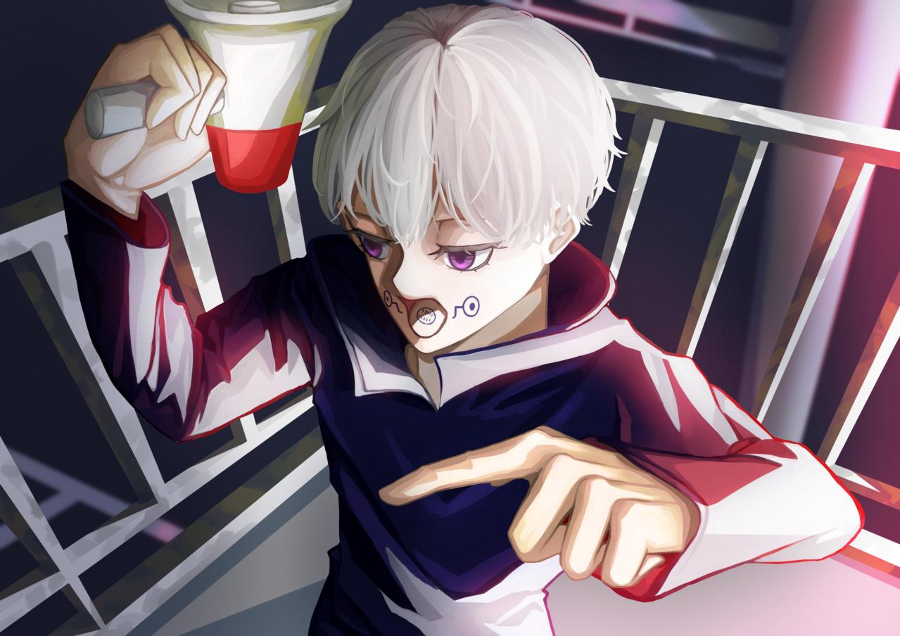 渋谷事変 Illust of ハン JujutsuKaisenFanartContest 狗巻棘 boy JujutsuKaisen