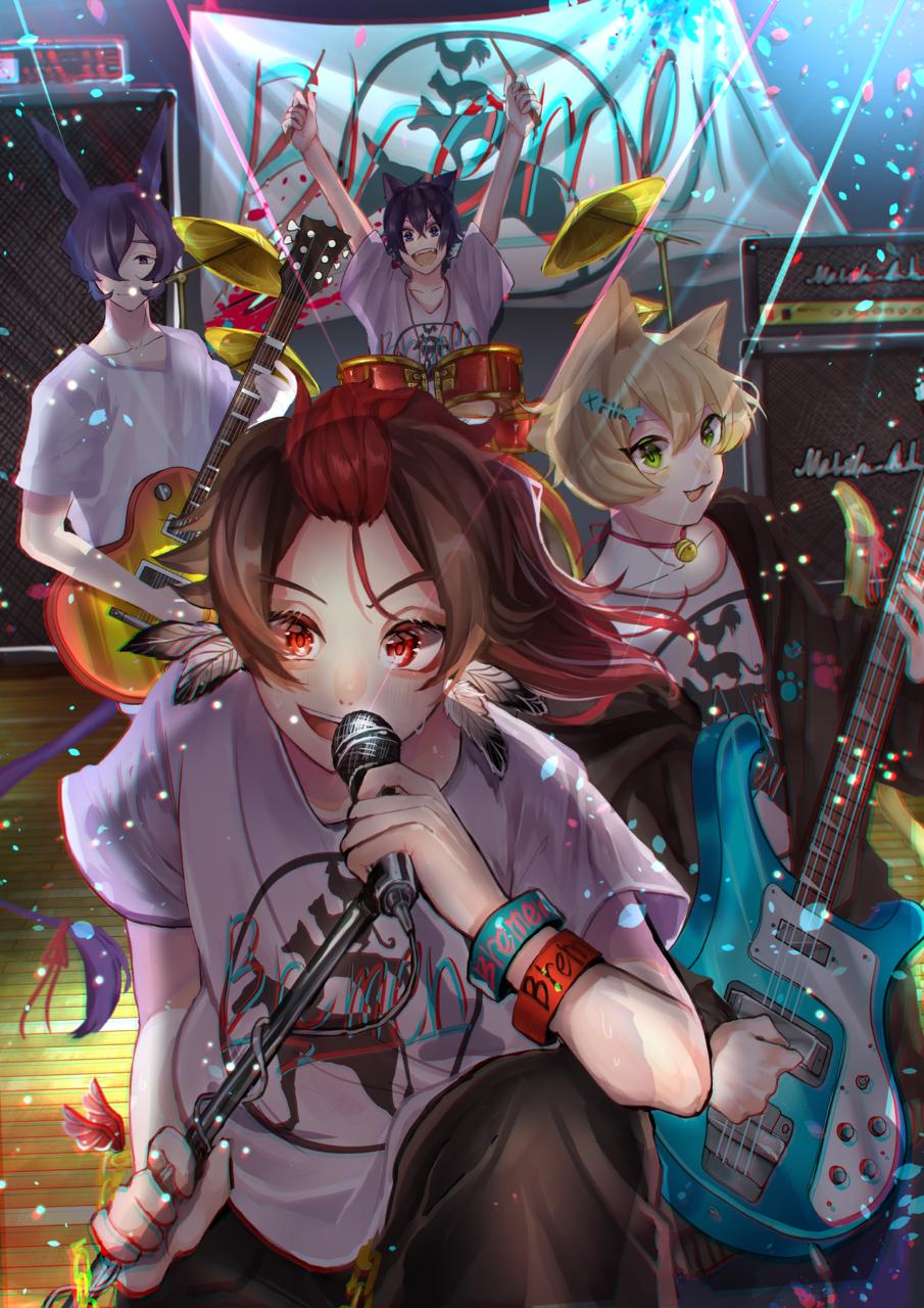 感動的なステージ! Illust of 杜若あんこ Original_Illustration_Contest animal_ears ライブ