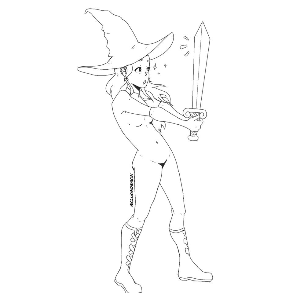 Legenda Swords Illust of Wallkindemon medibangpaint Medieval witch legendary chic