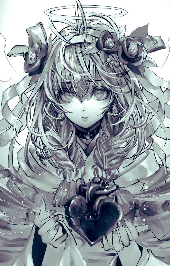 私の心をプレゼント Illust of 青砂時計 April2021_Flower May2021_Monochrome original oc