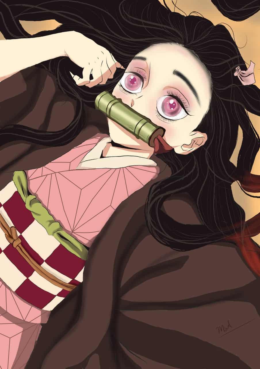 Nezuko from Demon Slayer  Illust of M.s.d. DemonSlayerFanartContest pixelart KamadoNezuko KimetsunoYaiba