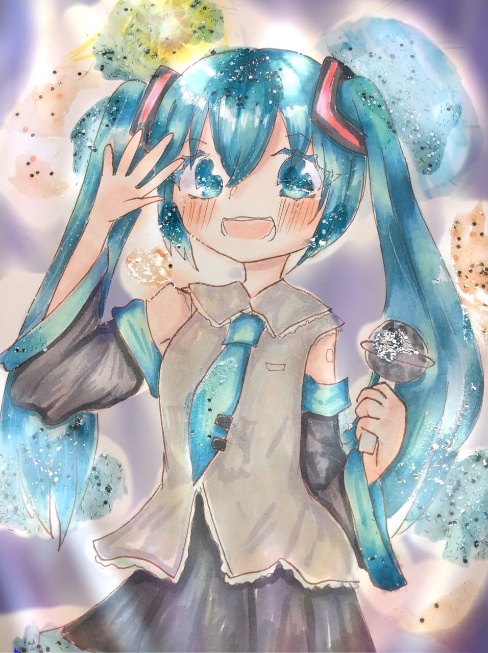 初音ミク Illust of 兎爬ことり#アナログ同盟 ミクの日 girl VOCALOID hatsunemiku