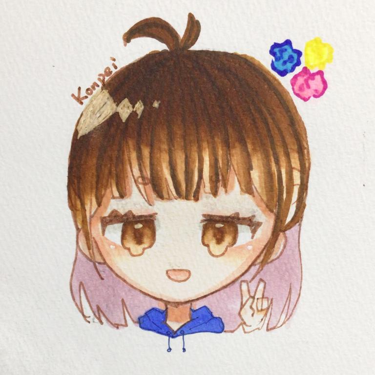 こんちゃのアイコン! Illust of えのきゅーり。 kawaii original こんぺい えの cute えのきゅーり。