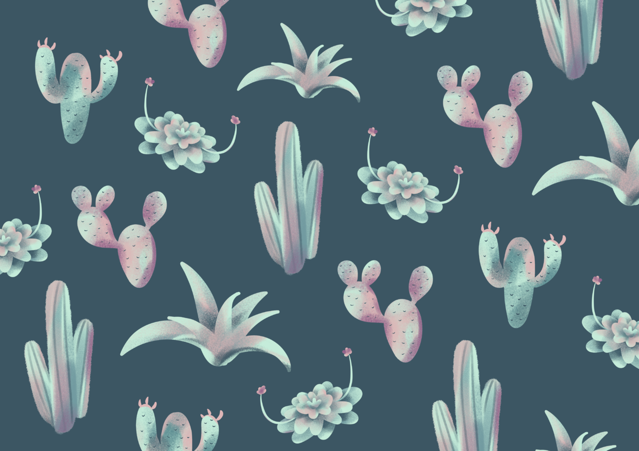 Cactus Pattern Illust of Andinatz medibangpaint iPad_raffle