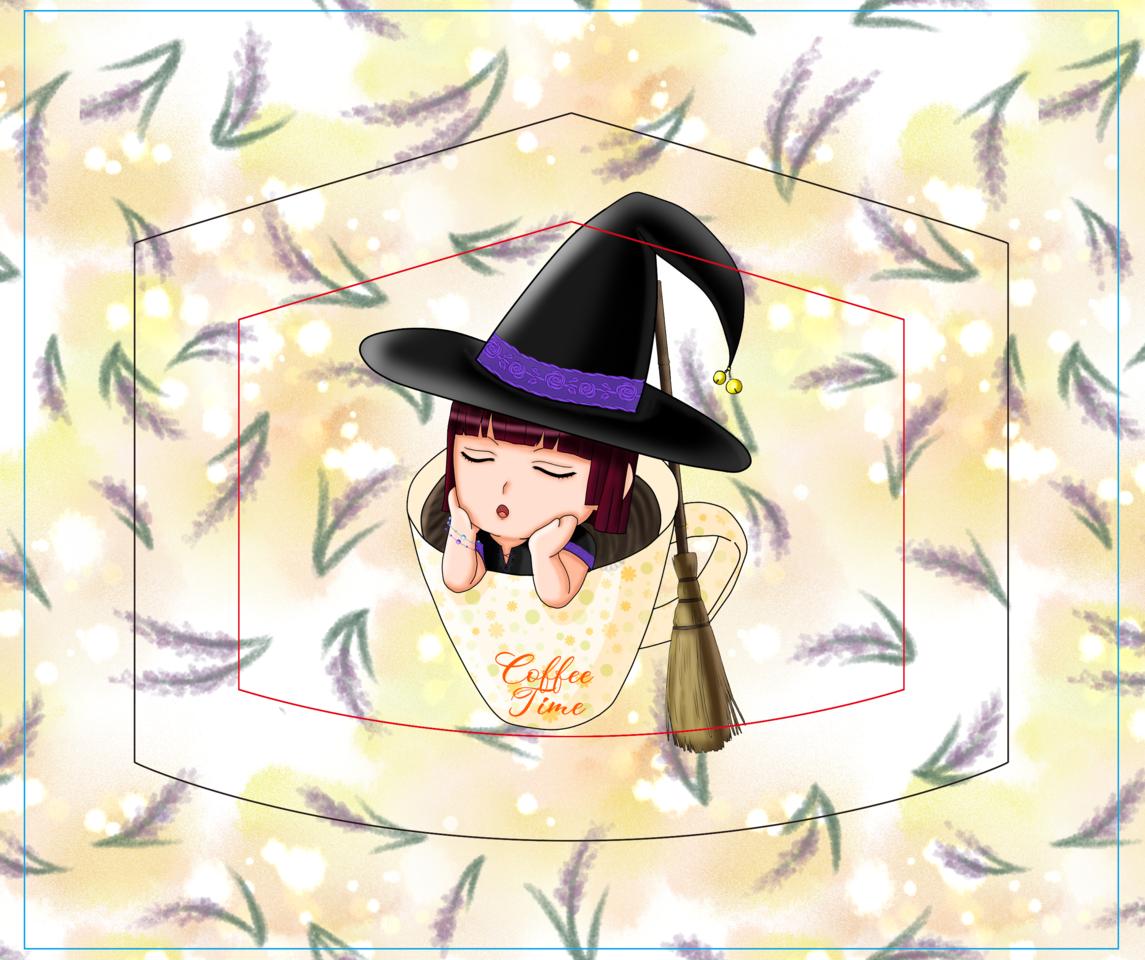 witch mask Illust of Shira_Ackerman MaskDesignContest medibangpaint