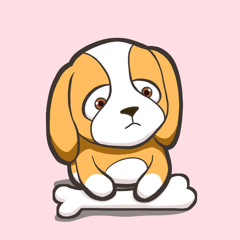 Puppy 🐶  Illust of Miho Mao DOGvsCAT_DOG cute dog kawaii pink puppy