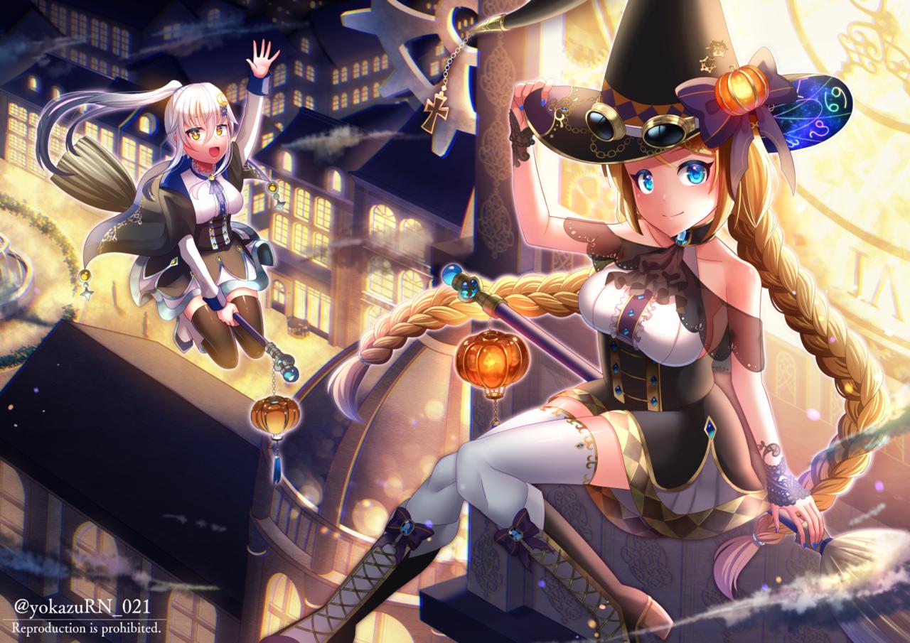 Happy Halloween!! Illust of 夜和 original witch Halloween steampunk girl oc