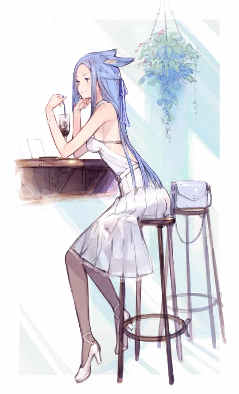 待ち合わせ Illust of kanekoattk animal_ears girl original