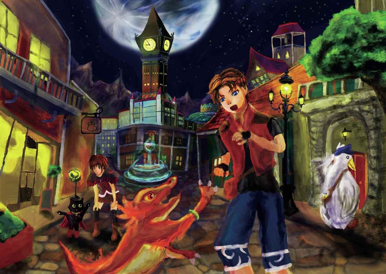 Force-時計塔のある街 Illust of ロア fantasy MCPOAwardIllustrationSection original 時計塔 Force moon