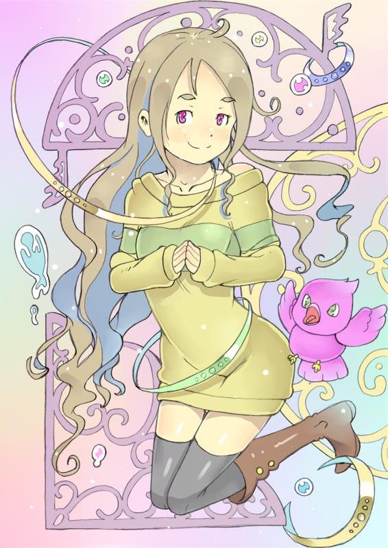 じゃんぷ! Illust of かみむらあき kawaii girl MyTinyPrincess illustration よるねちゃん