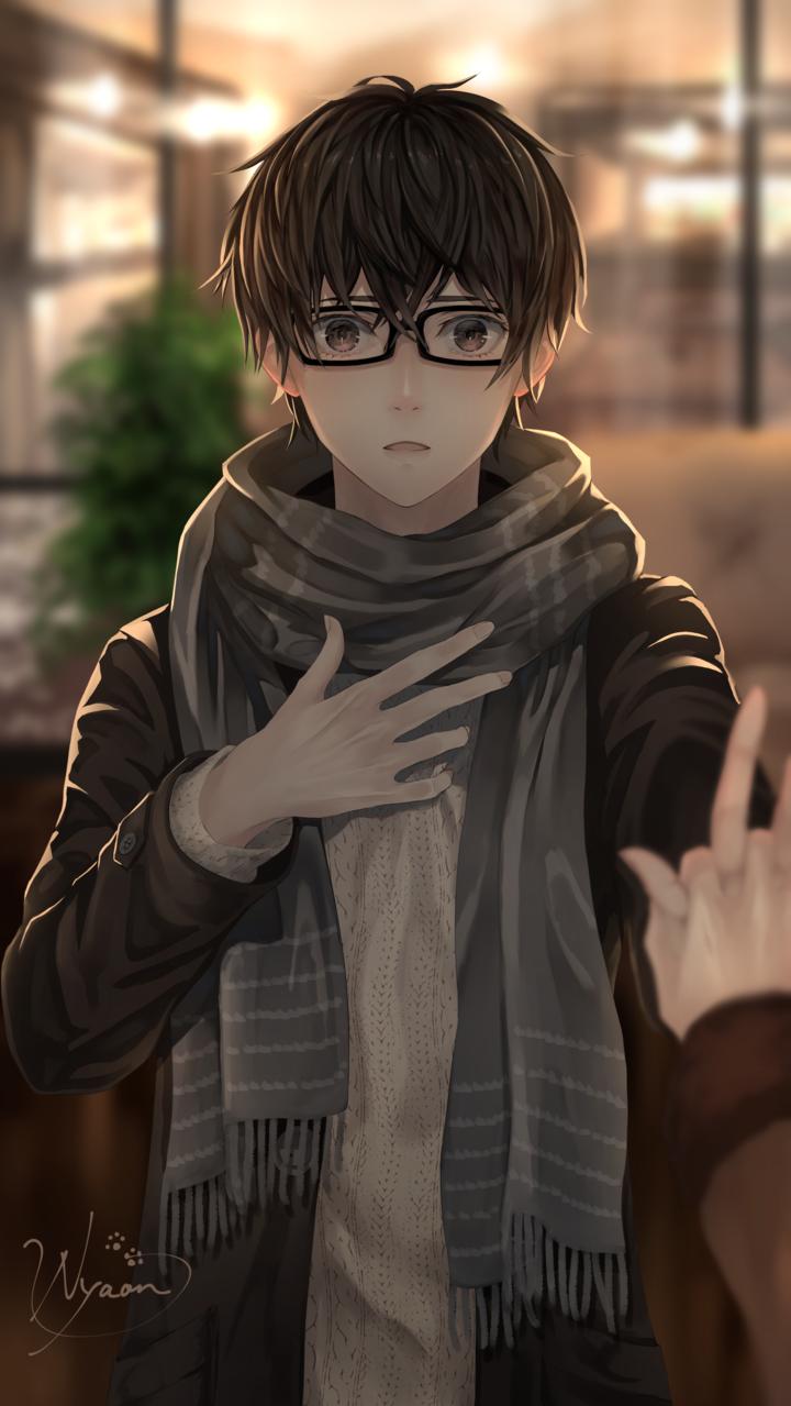 想い Illust of 稔也 male マフラー デート glasses