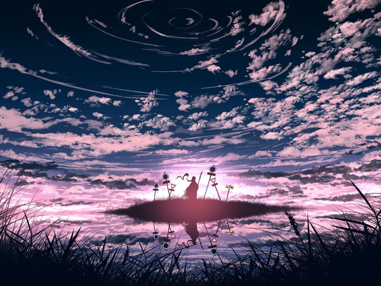 君の証明 Illust of faPka February2021_Fantasy background scenery